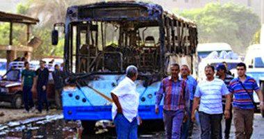 تفحم 13 طالبا وإصابة 18 فى اصطدام اتوبيس مدارس بسيارة بنزين بالبحيرة