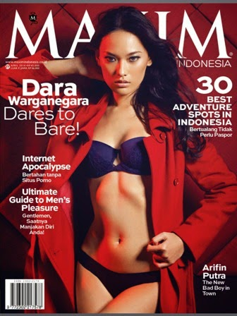MAXIM Indonesia Magazine Edisi April 2014 Cover Model Dara Warganegara