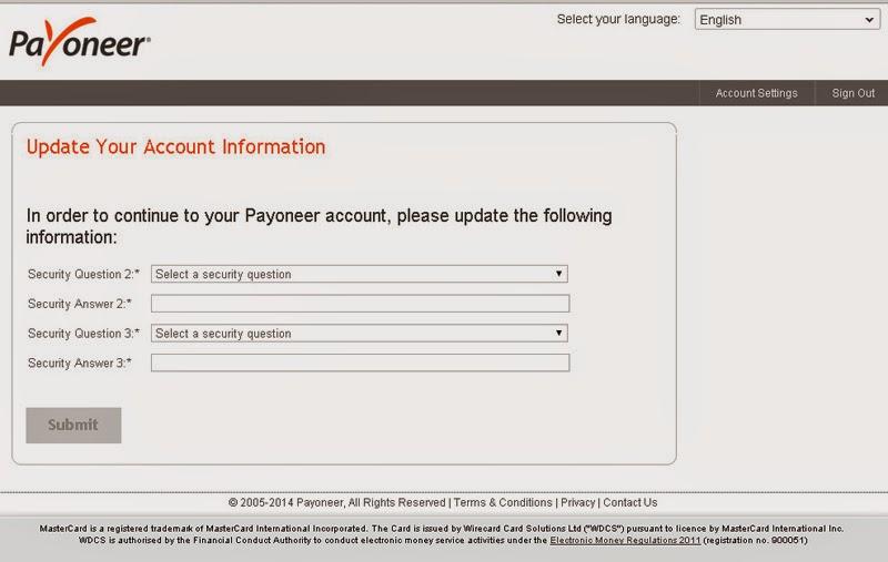 Cara Mendapatkan Kartu Debit Payoneer