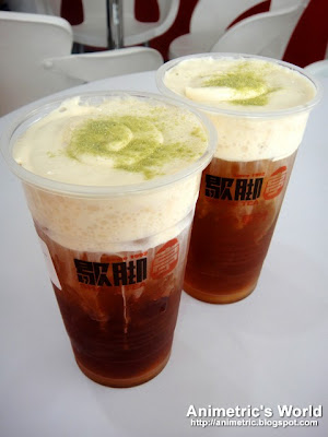 Rock Salt Cheese Cream beverages at Sharetea