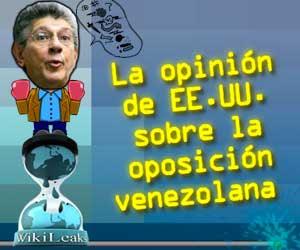 Opinión de E.E.U.U sobre la oposición