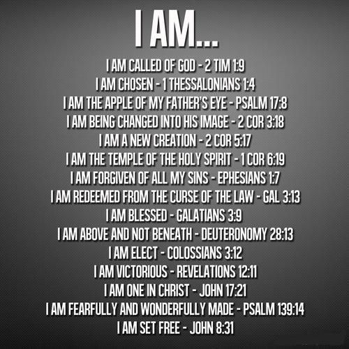 """THE GREAT """"I AM's"""" WE ARE IN JESUS YESHUA!!"""