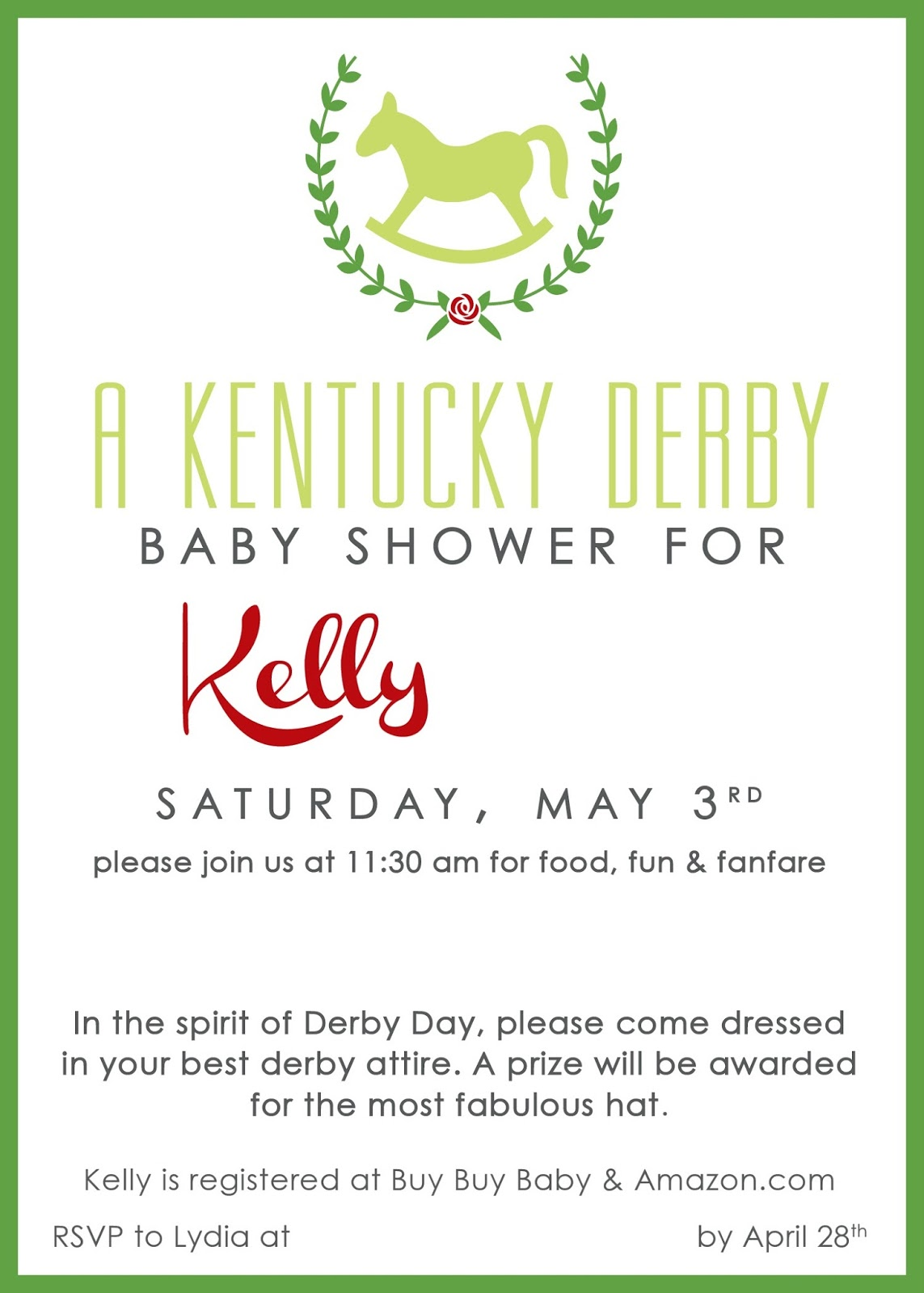Huckleberry Love: Kentucky Derby Baby Shower