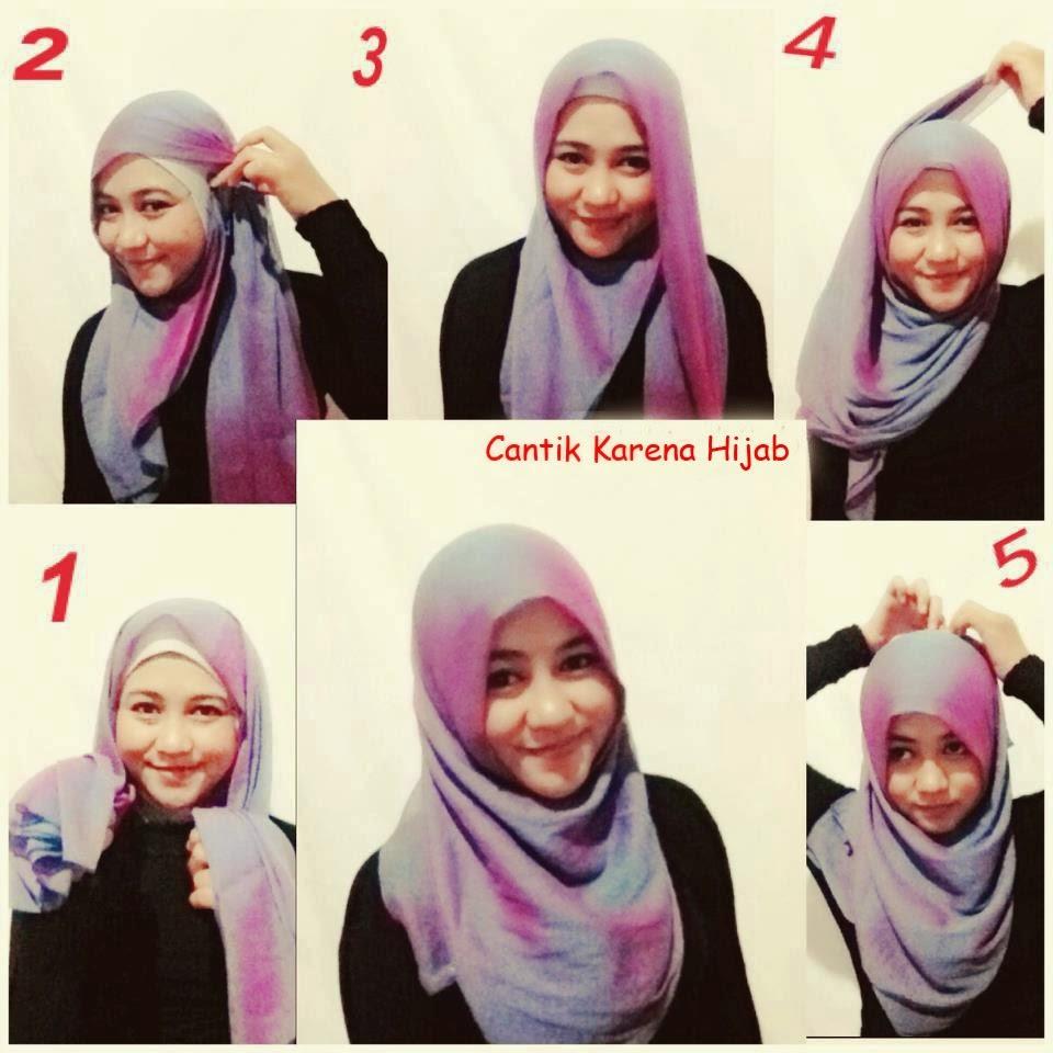 Tutorial hijab paris segi empat zoya