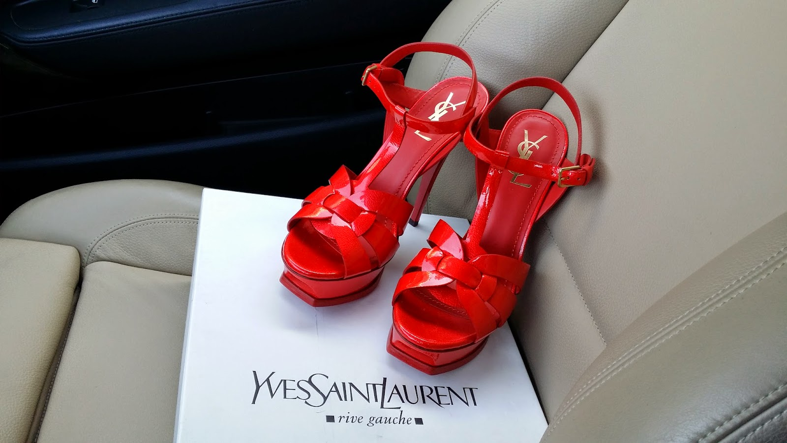 b6b5d0dd51ce ... fiery red patent leather sandal. The high heeled version of the classic  Tributes also contribute to the