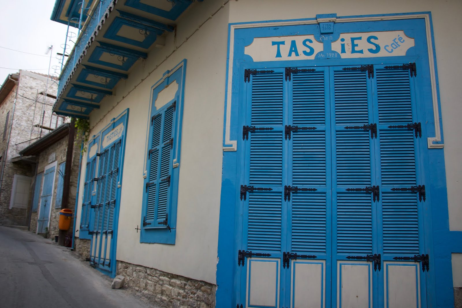 And as I hurried back to the car this aqua blue door tempted me to stop for a quick photo. & Blue doors in Lefkara Cyprus | Prêt-à-Vivre [Ready to ... Waltz]