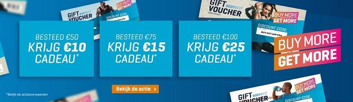 Bestel voor 50, 75 of 100 euro en je krijgt een waardebon cadeau!