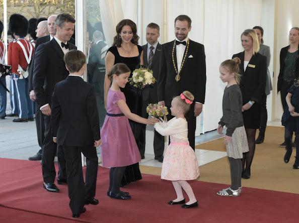 Danish Crown Prince Frederik, Crown Princess Mary, Prince Christian and Princess Isabella, Queen Margrethe of Denmark and Prince Henrik,  Aarhus Mayor Jacob Bundsgaard,