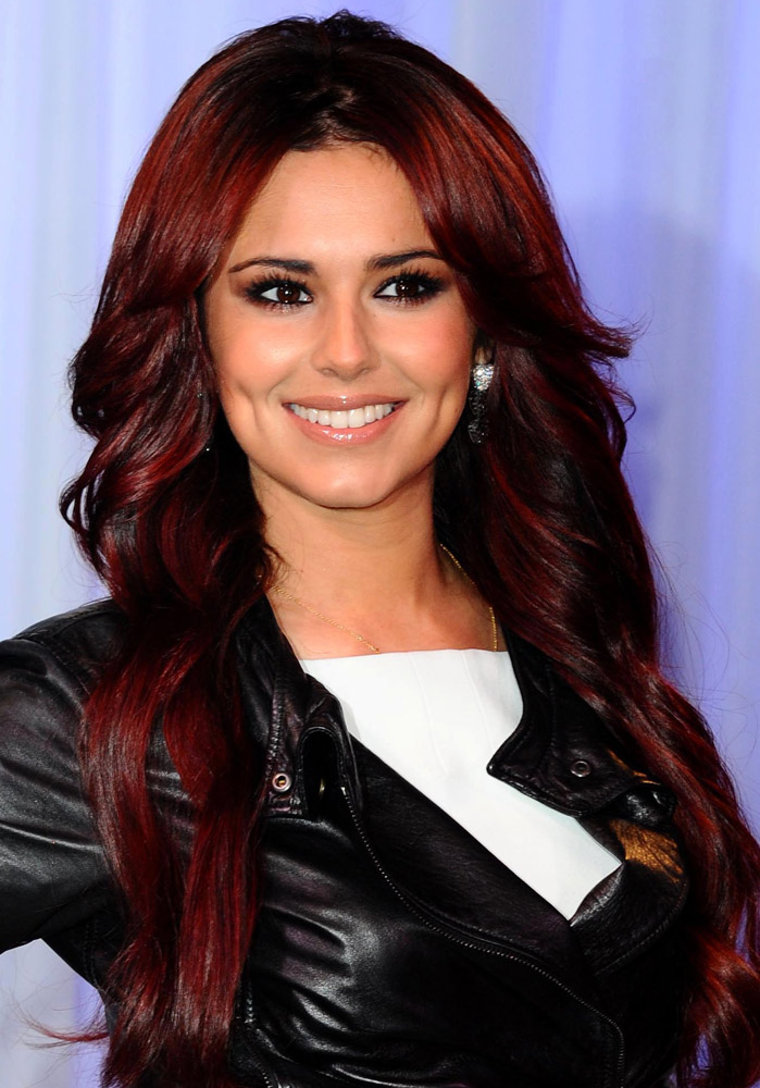 cheryl cole red hair
