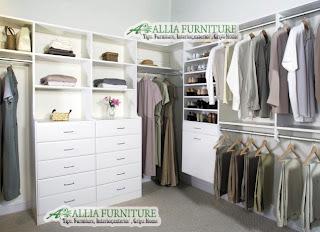 Lemari pakaian minimalis model lay out