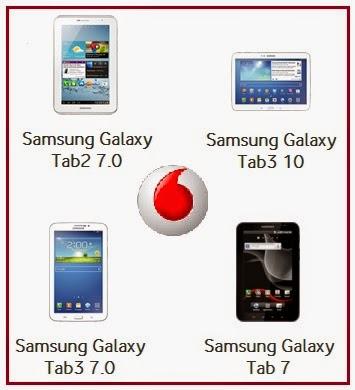 tablet samsung con vodafone, prezzi e condizioni