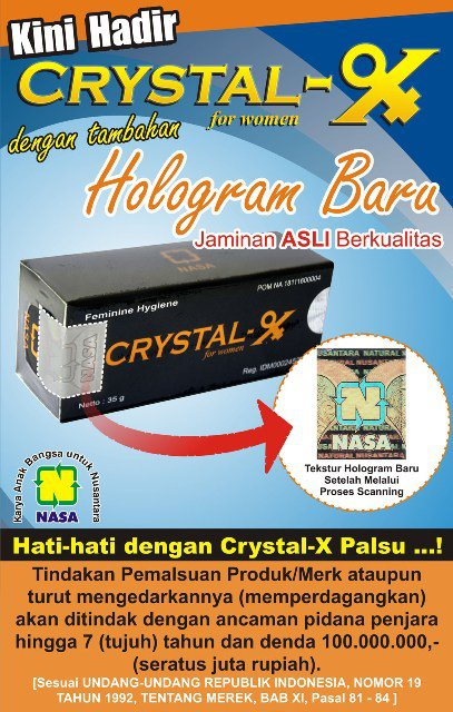 Gambar Crystal X dengan Hologram Baru