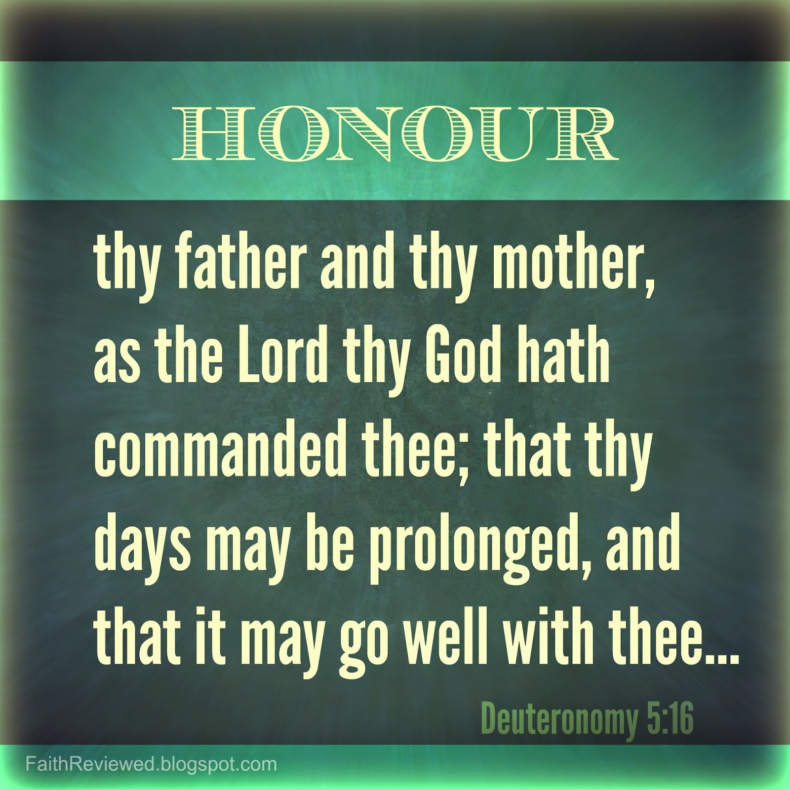 """honor thy father and mother an This is exactly the case with the fifth commandment—""""honor your father and your mother""""—and especially so for adult children young children honor their parents through their obedience, but what about adults."""