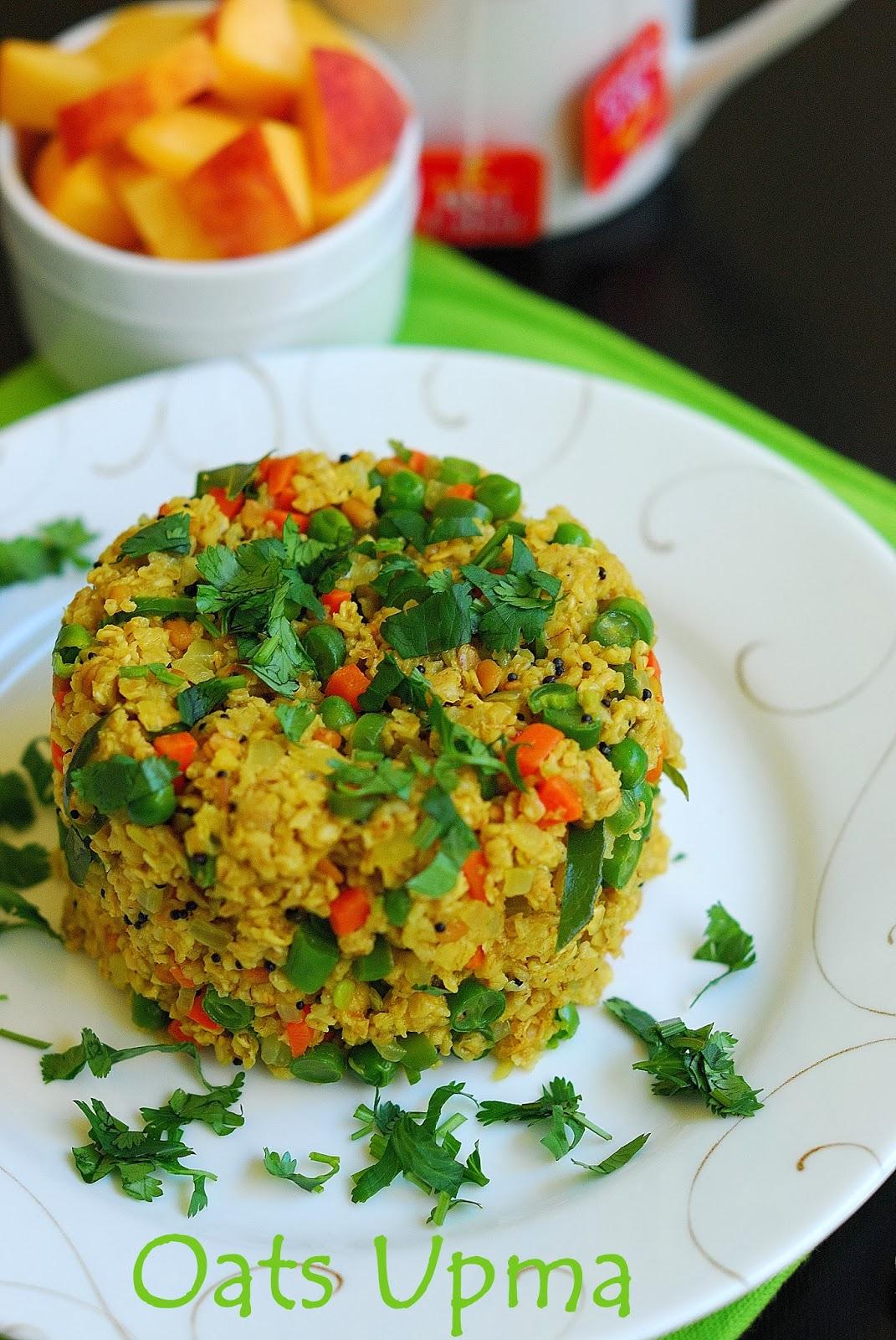 Oats upma indian breakfast recipe healthy breakfast recipe from my home kitchen forumfinder Images