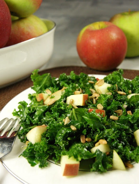 Kale and Apple Salad with Honey