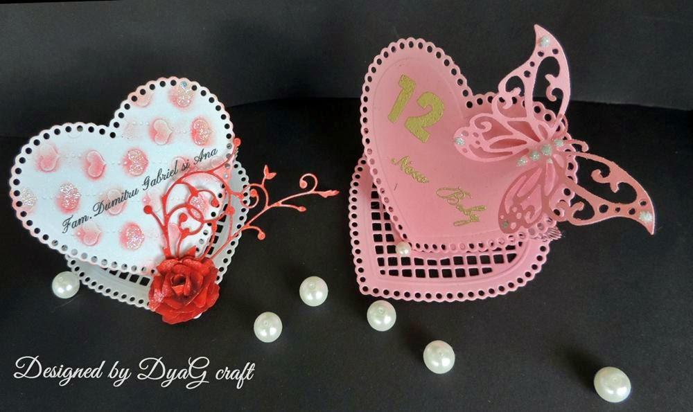 numar de masa botez pentru fetite sub forma de inima roz dantela