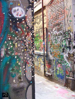 © corrine bayraktaroglu gum wall graffiti