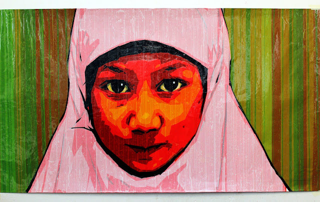 tape art tapeart pop-art white  contemporary russian islam