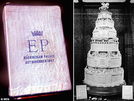And Queen Elizabeth and Prince Phillip 39s cake
