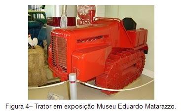 Trator de esteira em exposição Museu Eduardo Matarazzo