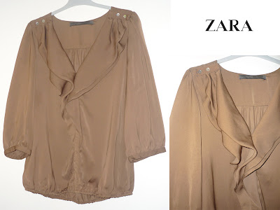 chemisier marron Zara