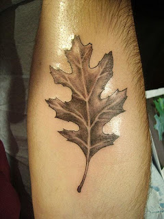 leaf tattoo with great design
