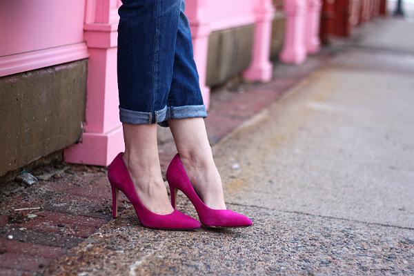 hot pink pumps
