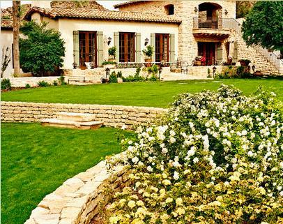 Casa de campo con piscina y jard n 6592576 jardines para for Fotos de jardines de casas modernas
