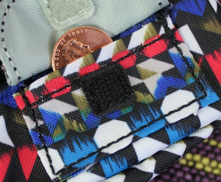Kipling USA Defea Printed Key Fob in Nordic Journey pocket
