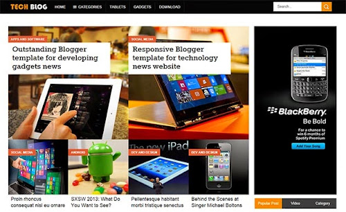Template Tech Blog Para Blog de Noticias
