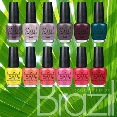 Brazil collection by OPI esmaltes para unhas as cores da coleção