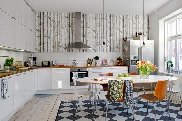 Papel pintado para la cocina papel pintado de cole son kansei cocinas servicio - Papel pintado vinilico para cocinas ...
