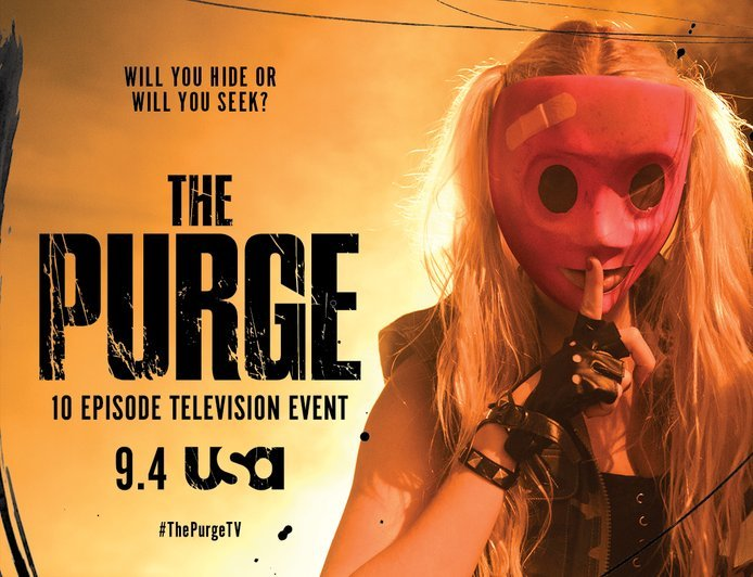 The Purge: Now Playing On The USA Channel. Don't Be Caught Out Alone.