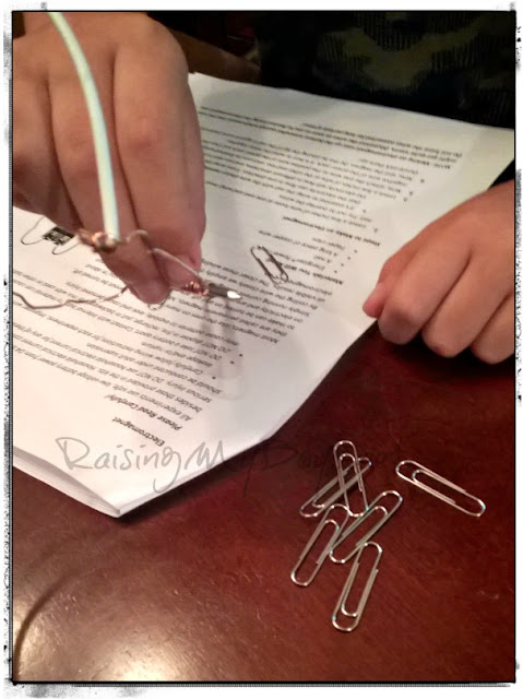 electromagnet with paper clip