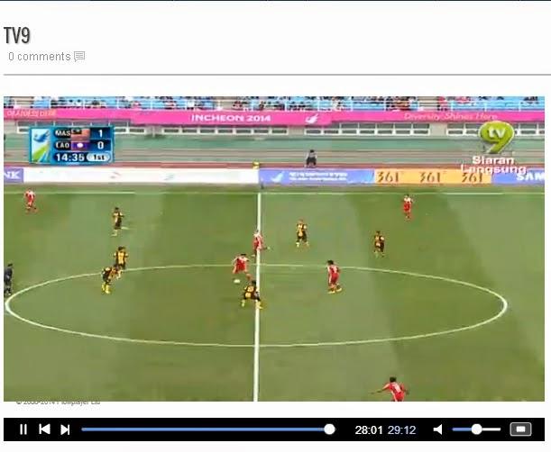 Live Stream Malaysia Vs Laos - Bola Sepak SUkan Asia 2014