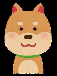 いろいろな表情の犬のイラスト「笑顔」