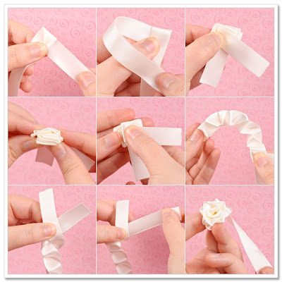 How to Make Folded Ribbon Roses