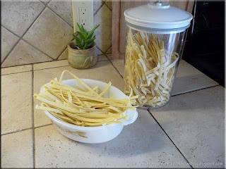freshly made pasta ready for cooking and storage