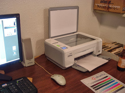 ubuntu operating system printer test page by Tim Patterson