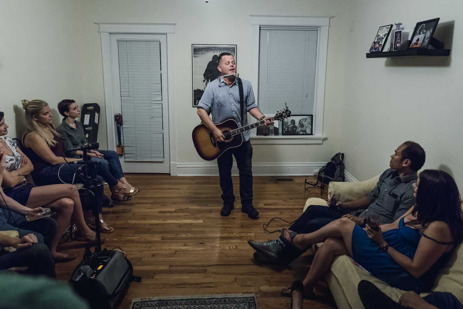 living room concerts. All photos by Tim Bottchen Speakers in Code  The 10 Best Concerts of 2015 Matthew Ryan