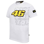 VR211 ヴァレンティーノ・ロッシ2012  スモール46ロゴ Tシャツ ホワイト