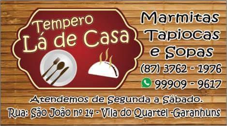 TEMPERO LÁ DE CASA