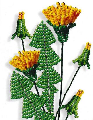 бисероплетение цветы деревья видео уроки