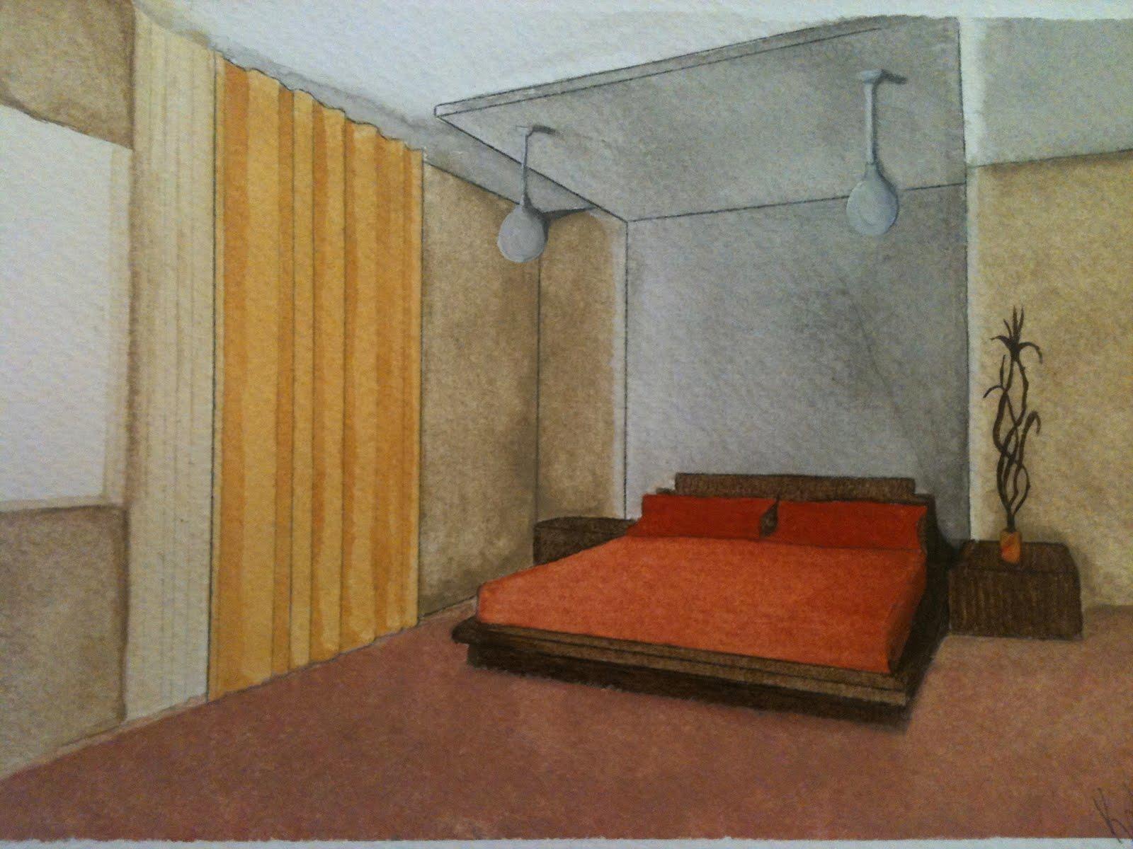 Dise adoras de interiores de la univa acuarelas y pasteles - Disenadoras de interiores ...