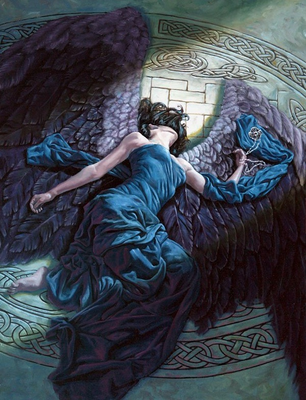 fallen angel,fantasy angel,digital art angel