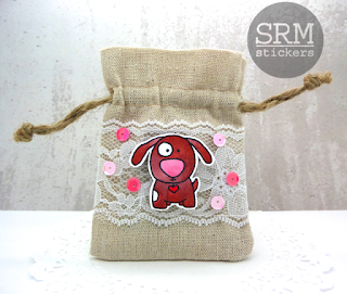 SRM Stickers Blog - Dressing Up Gift Cards... by Annette Allen - #linenandlacebag #janesdoodles #clearstamps #card #giftbag #DIY