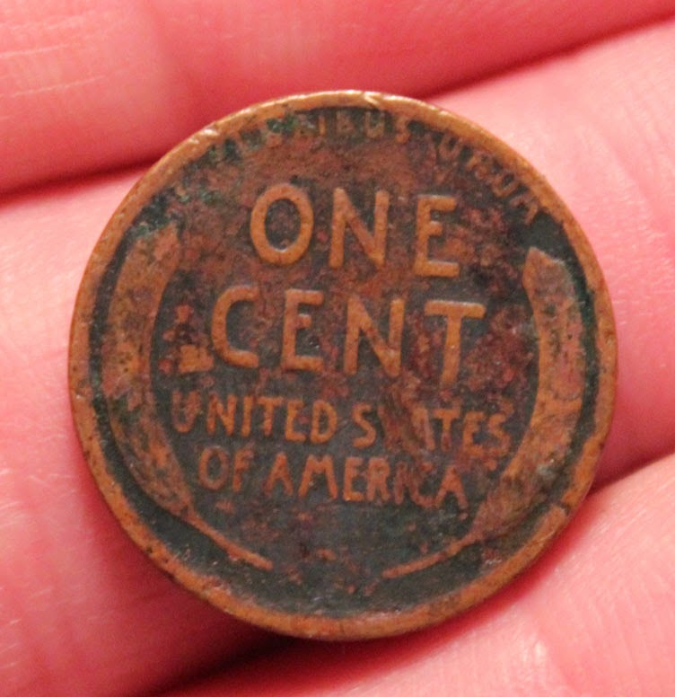 1918 US wheat penny tails