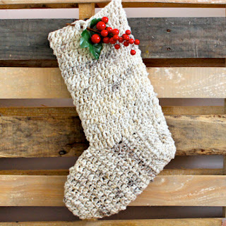 bota calcetin media navidad crochet ganchillo