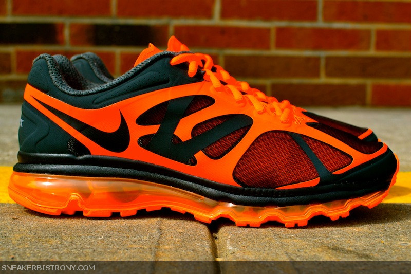 nike air max 2012 - anthracite/black-total orange