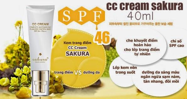 Sakura Nhật Bản ra mắt siêu phẩm kem trang điểm CC Cream Sakura